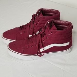 Vans Skateboard Shoes Size 11 Burgundy
